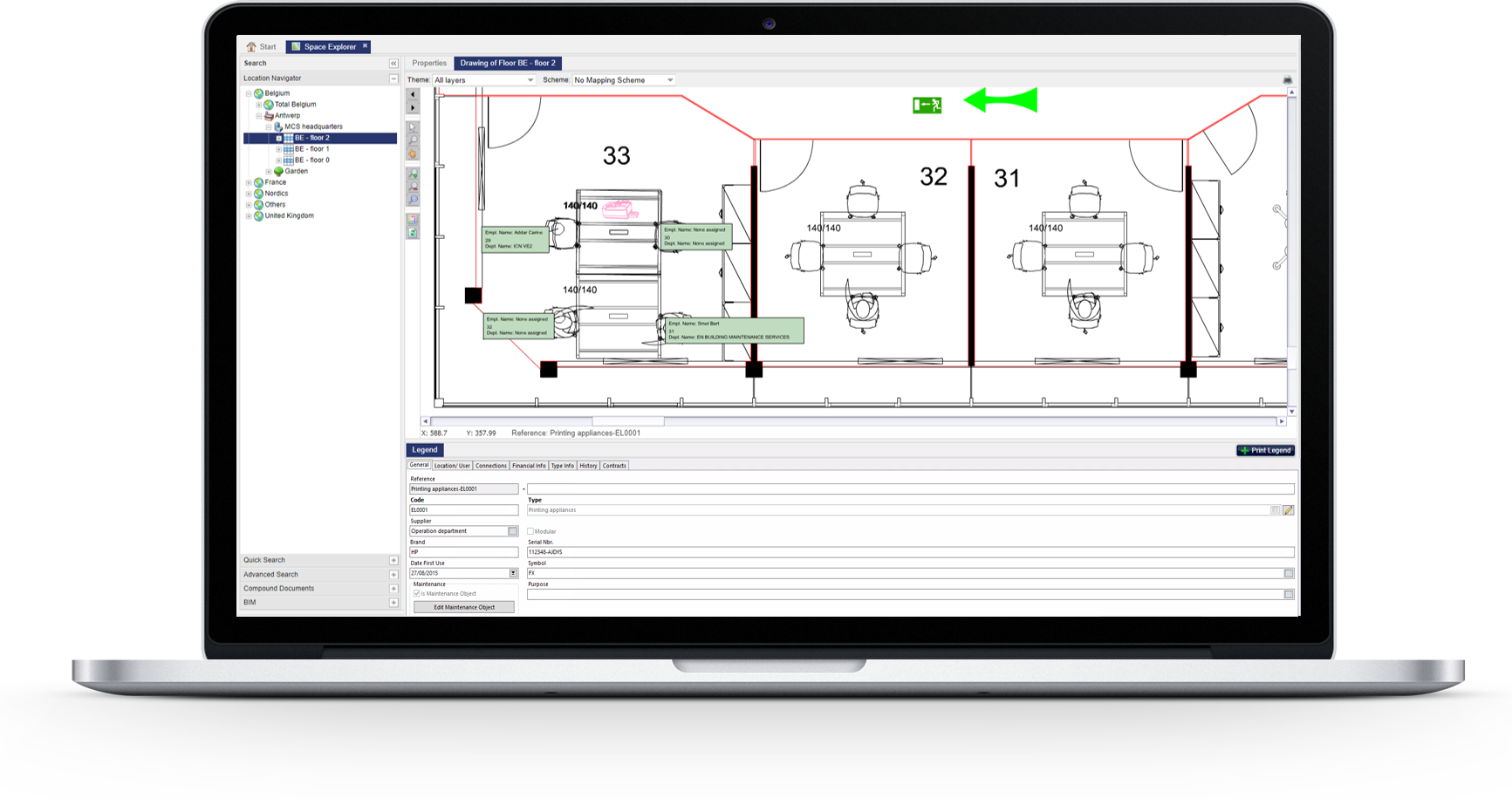 Flächenmanagement Software und Ausrüstungsmanagement