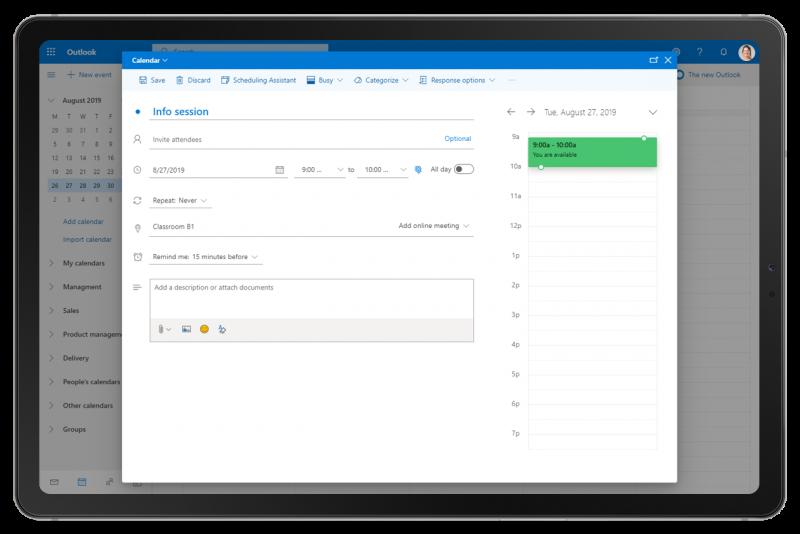 Synchronisation avec Exchange screenshot