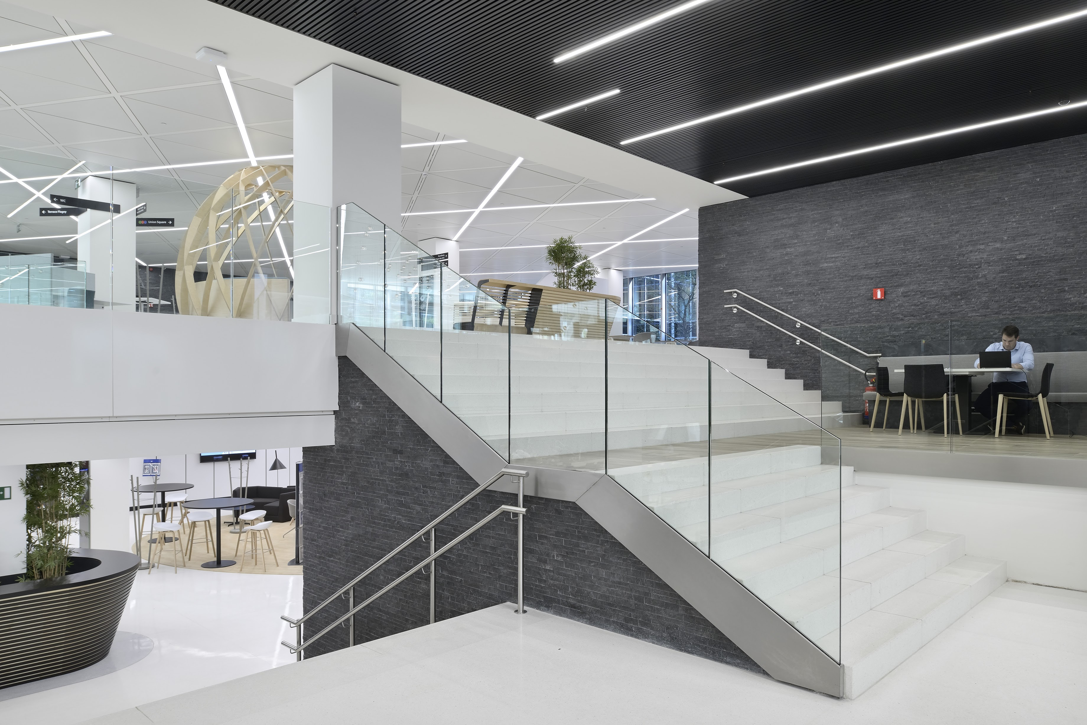 Axa building - interior, stairs