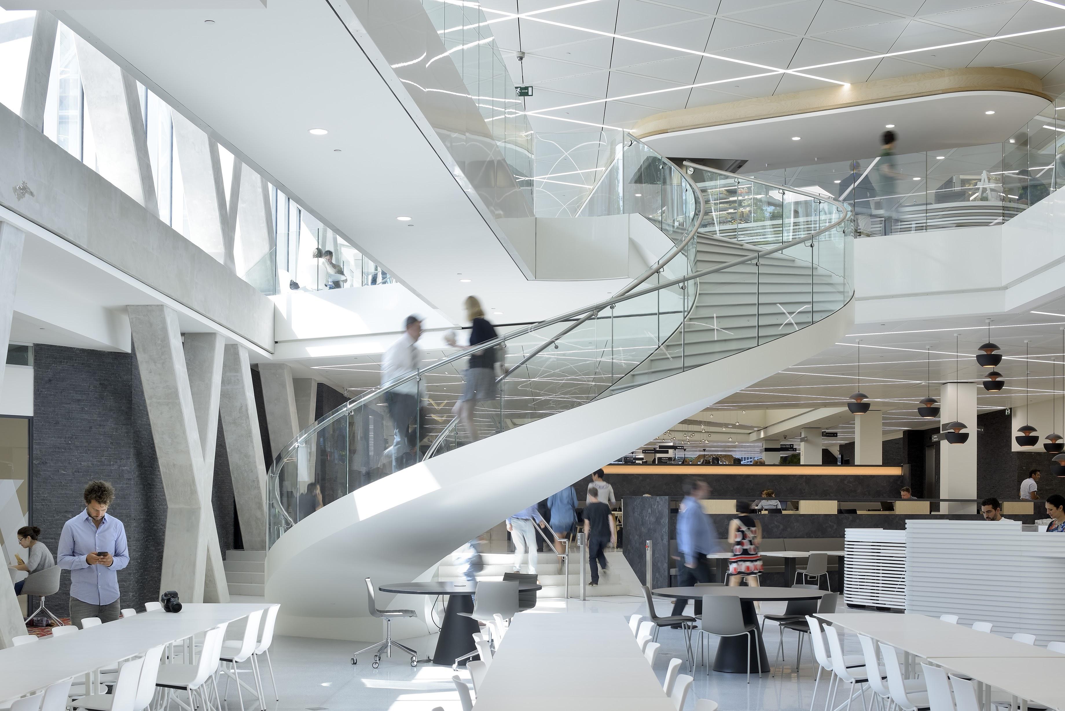 Axa building - interior stairway