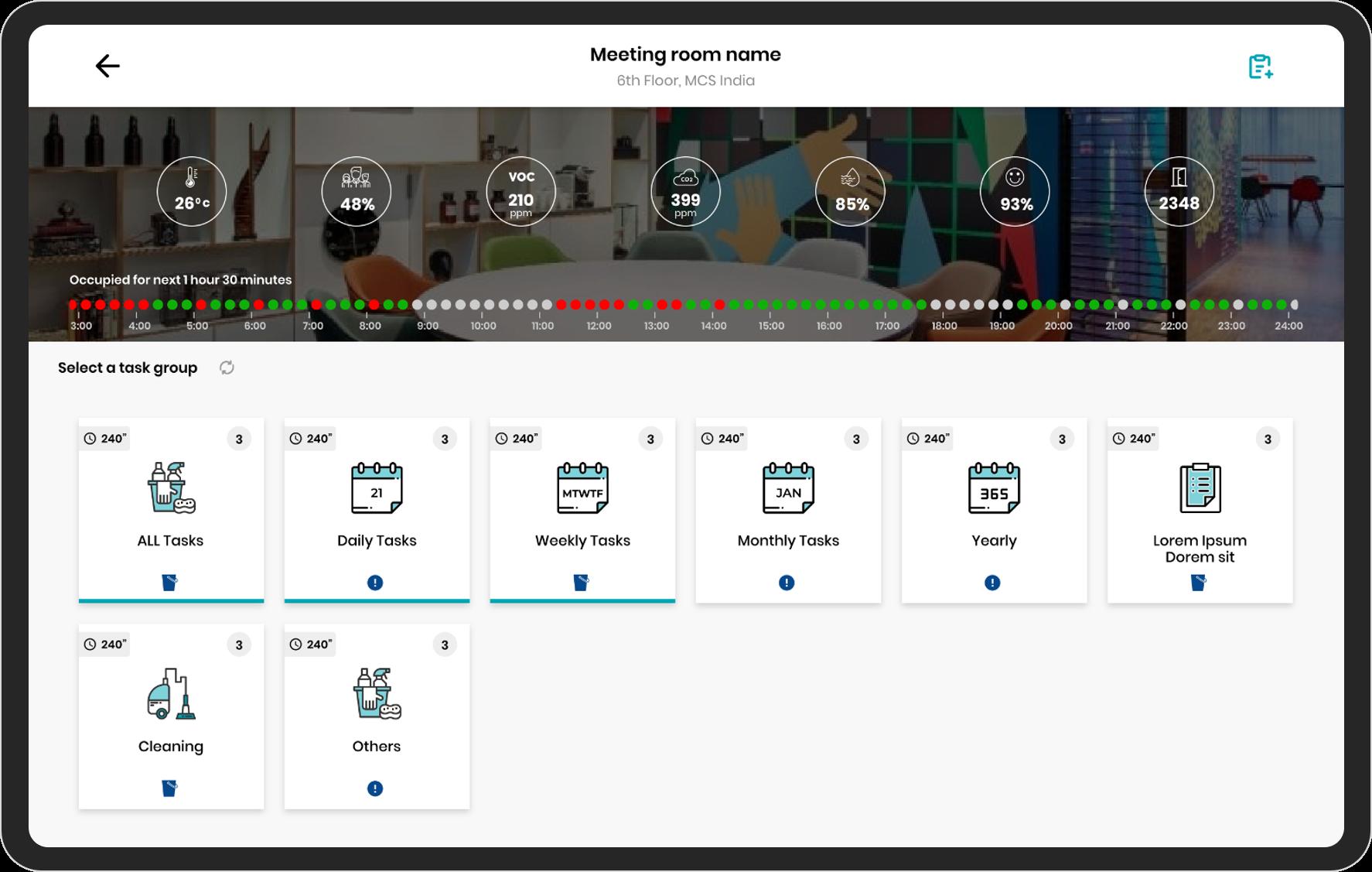 Catégories de tâches  screenshot
