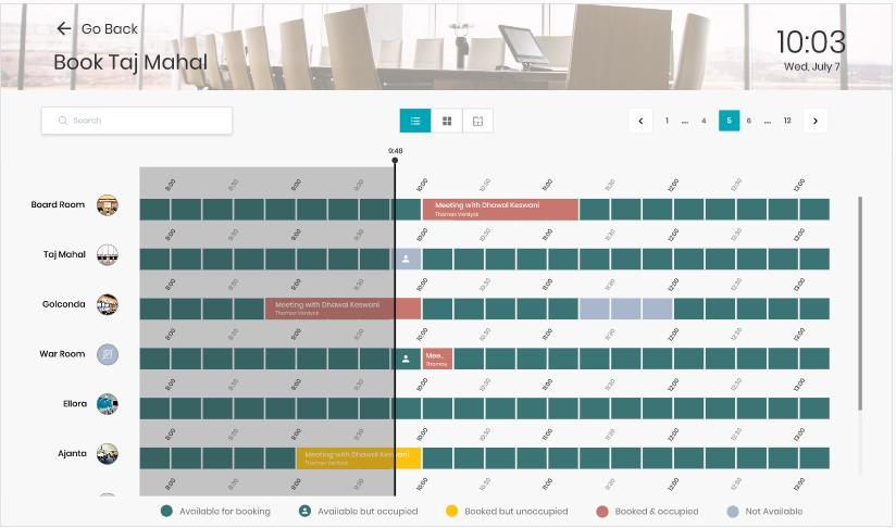 Find nearby rooms - calendar screenshot