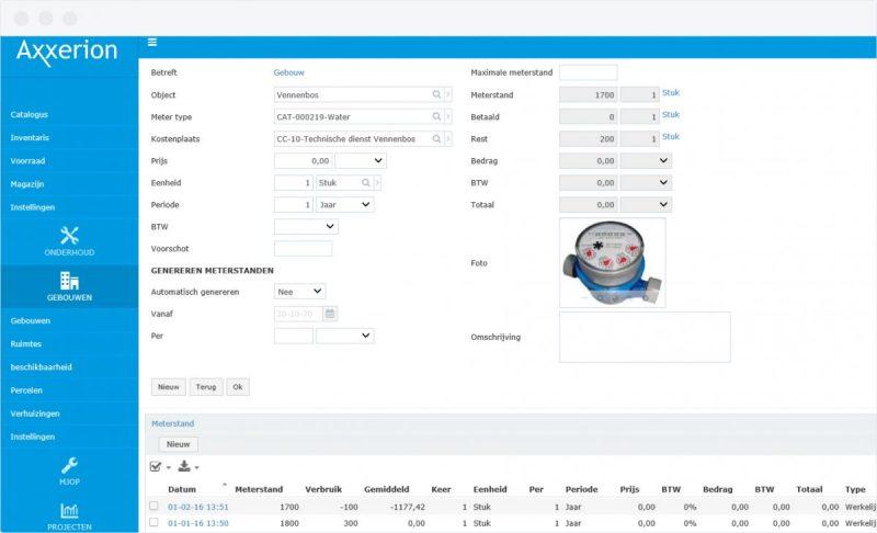 Axxerion Energy Meter screenshot