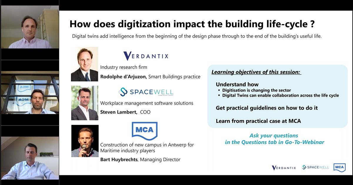 Digital Twin Technology webinar screenshot