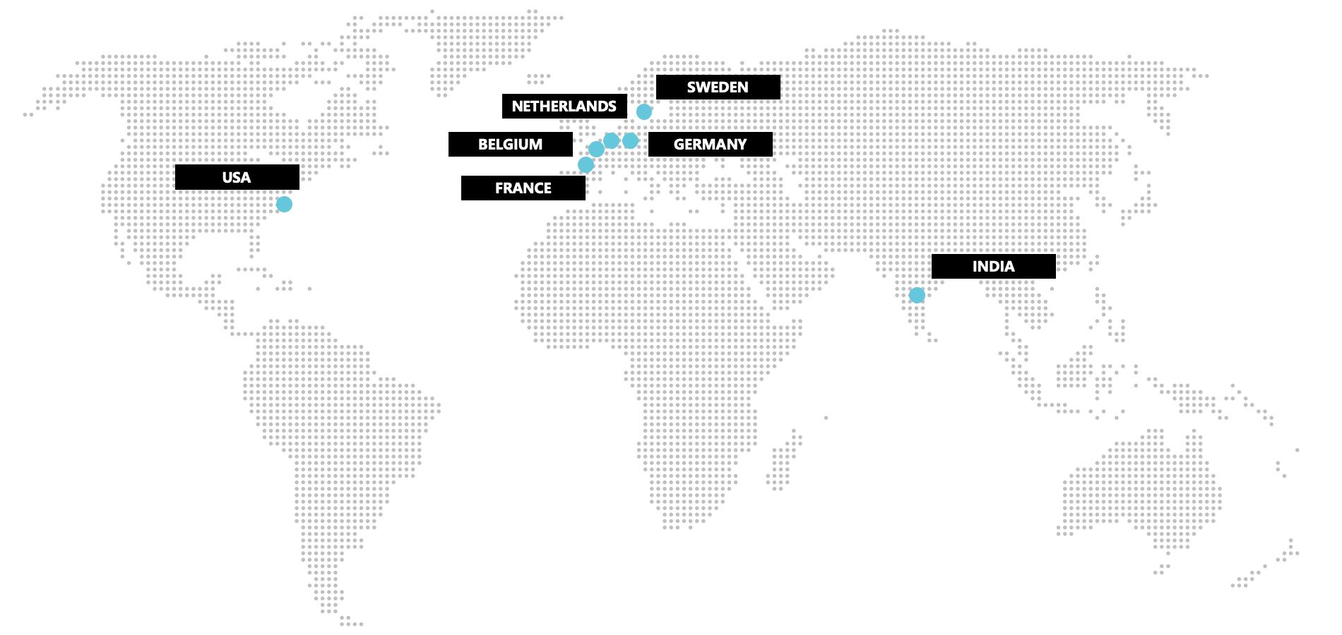 Carte des bureaux de Spacewell