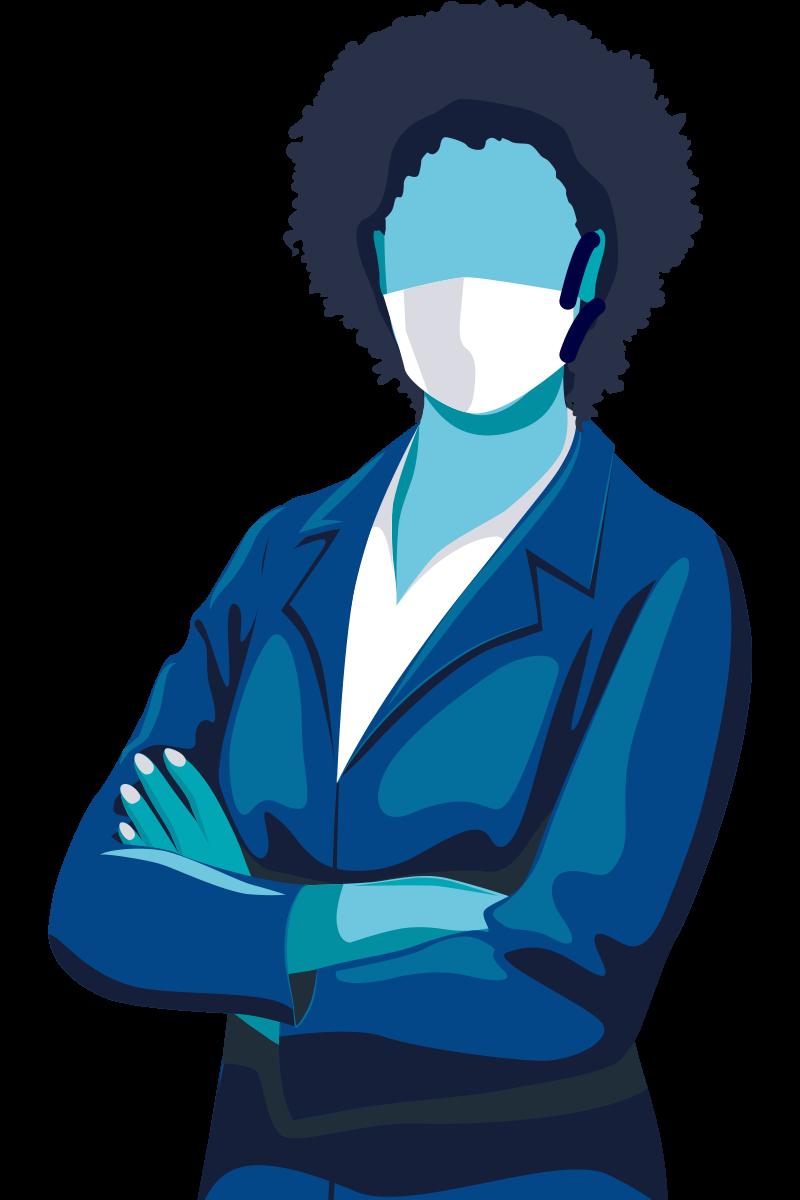 Image d'une femme portant un masque