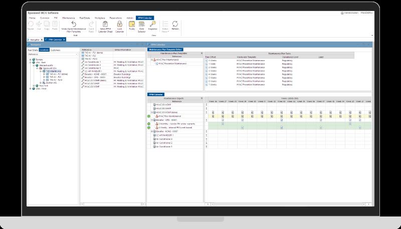 MCS Maintenance management screenshot