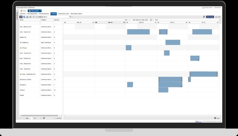 MCS Meetings & Reservations screenshot