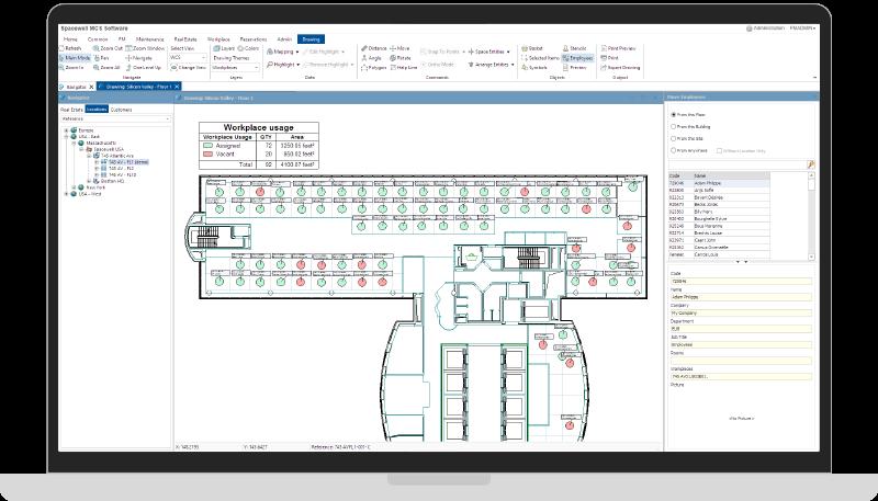 MCS Workplace management screenshot