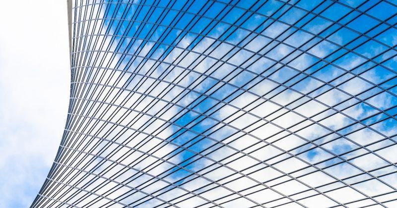 Fenêtres courbes des bâtiments