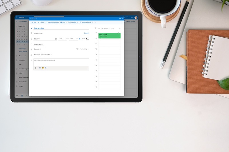 outlook add-in screensho