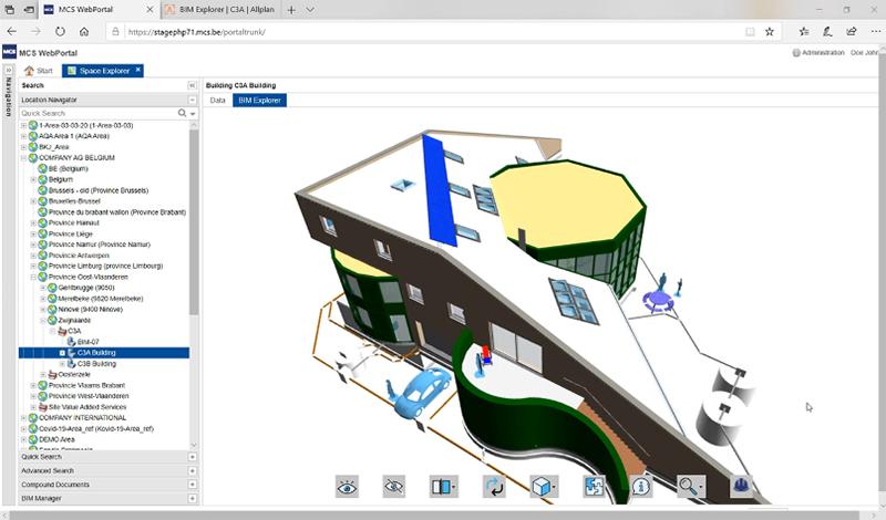MCS WebPortal - Bim Explorer screenshot