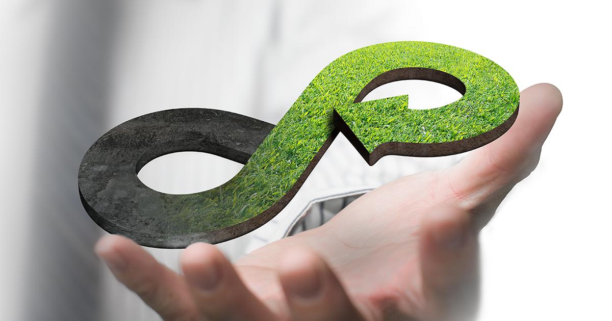 Grönt cirkulärt ekonomikoncept