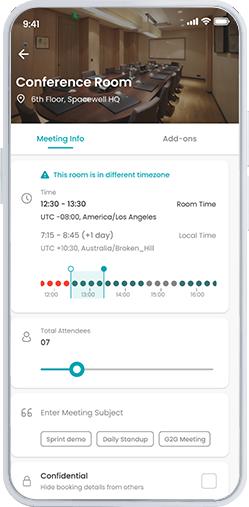 Workspace app - book a room