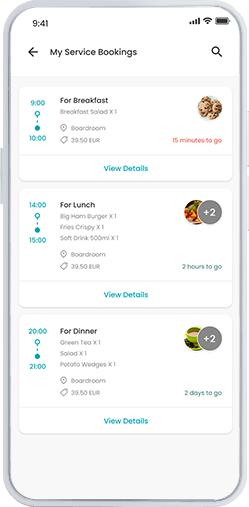Workspace app screenshot - suivre votre commande à venir